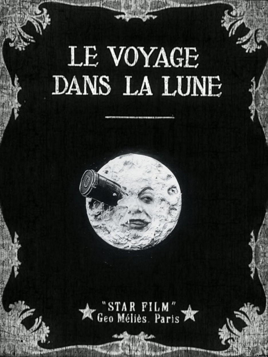An antique movie poster