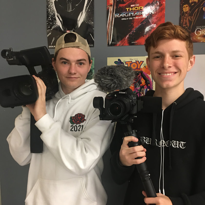 Advanced Screen students create a RCTV package.