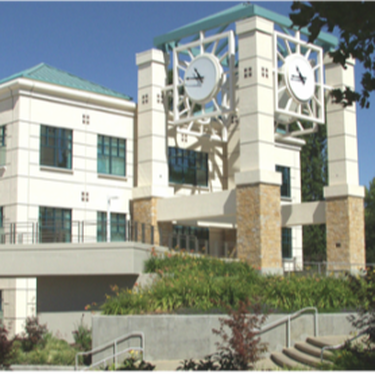 library and clock tower at Sonoma State University